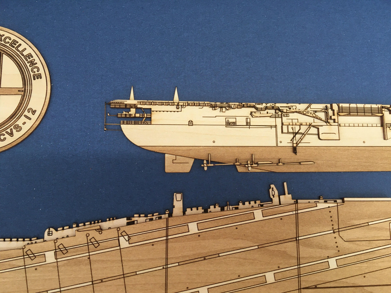 USS Leyete (CVA-13) Wood Model