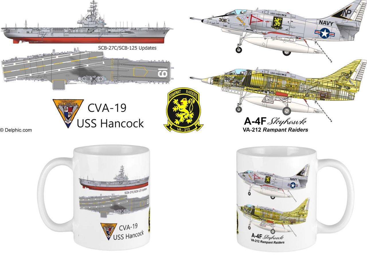 A-4F Skyhawk - USS Hancock Mug