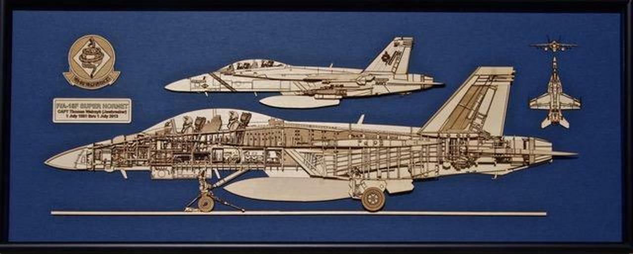 F/A-18 A/B/C/D Hornet Wood Model