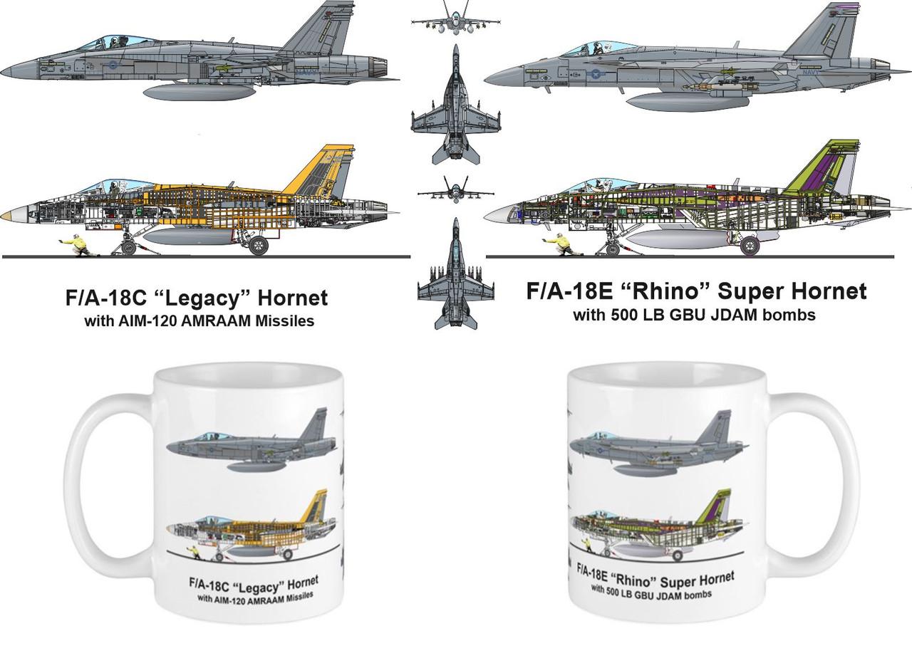 F/A-18 Legacy Rhino Hornet Mug