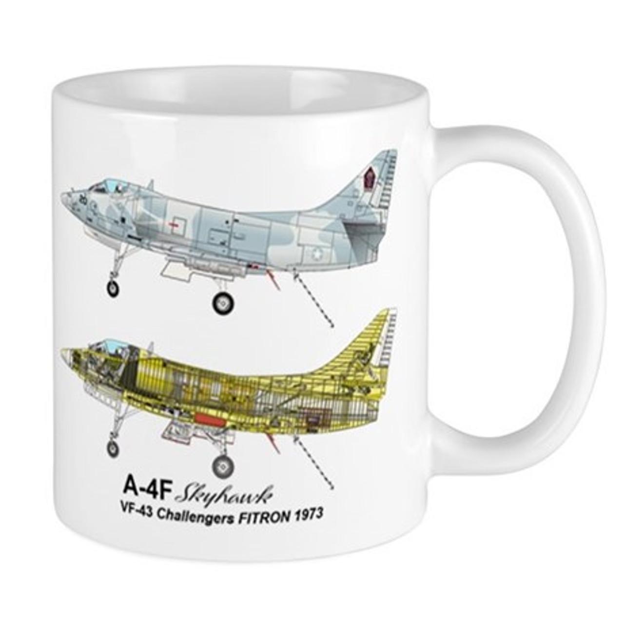 VF-43 Challengers A-4F Skyhawk Mug