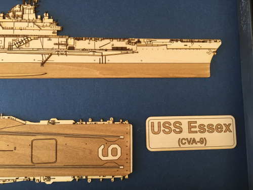USS Essex CVA-9 Forward
