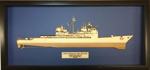 USS Yorktown (CG-48) Wood Model
