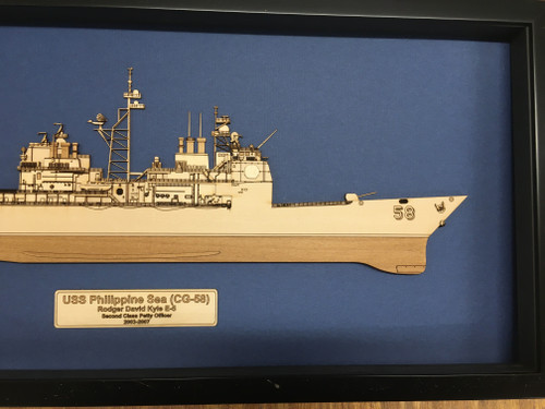USS Bunker Hill (CG-52) Wood Model