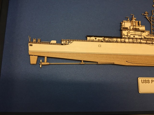 USS Chosin (CG-65) Framed/enclosed wood model