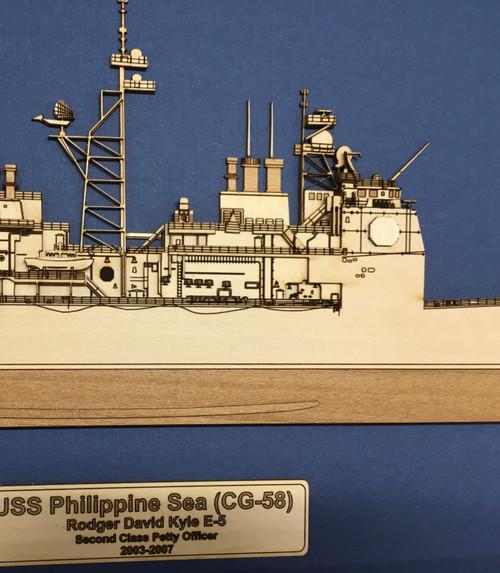 USS Cowpens (CG-63) Wood Model
