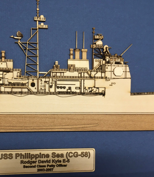USS Lake Champlain (CG-57) Wood Model