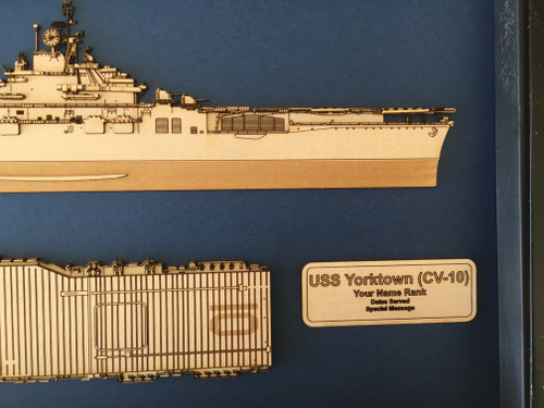 USS Yorktown CV-10 Wood Model
