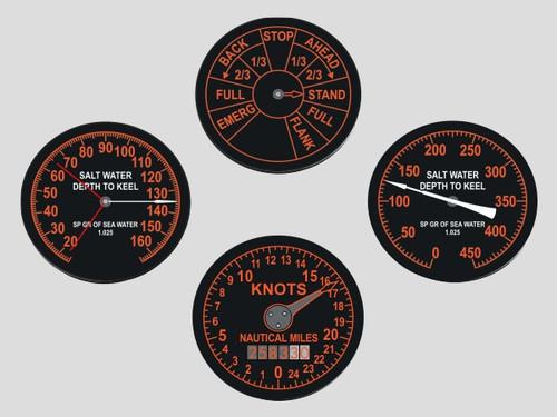 Submarine Gauge Coasters