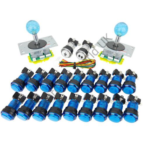 2 Illuminated Joysticks And 20 Translucent Illuminated Arcade Buttons Kit