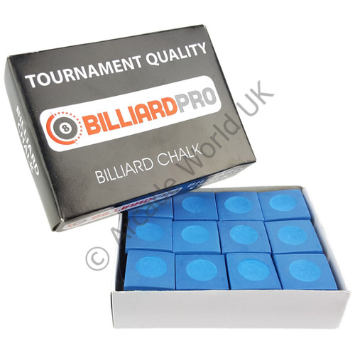 Box Of 12 Billiard Pro Pool/Snooker Chalk