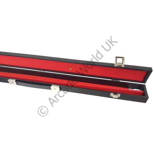 AWUK Hard Black Cue Case For 2 Piece Pool/Snooker Cue