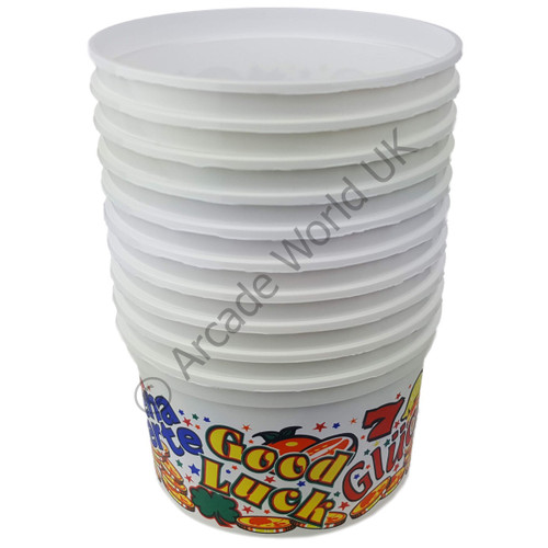 Coin/Party Cups – 500cc (Large) Good Luck Design - Pack of 10