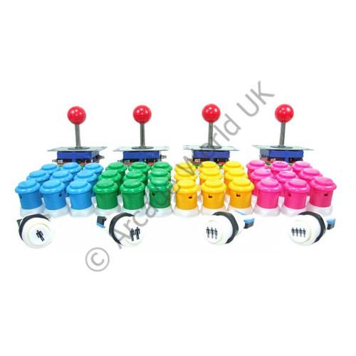 4 Player Arcade Joysticks And Buttons Kit No9