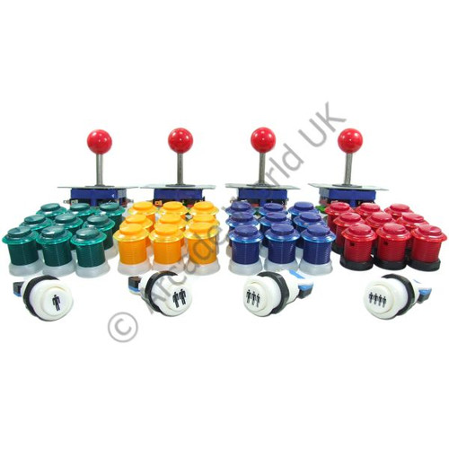 4 Player Arcade Joysticks And Buttons Kit No10