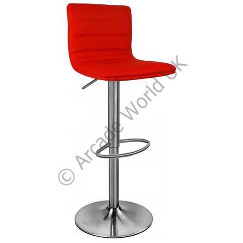 Aldo Brushed Chrome Bar Stool