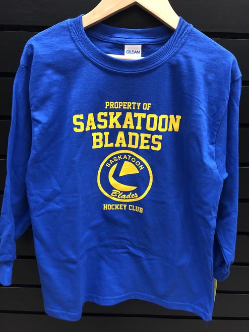 Property Of Saskatoon Blades Youth LS