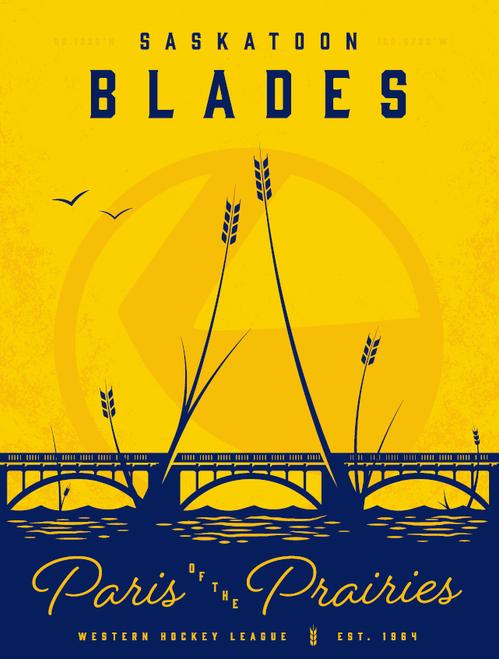 Saskatoon Blades Poster