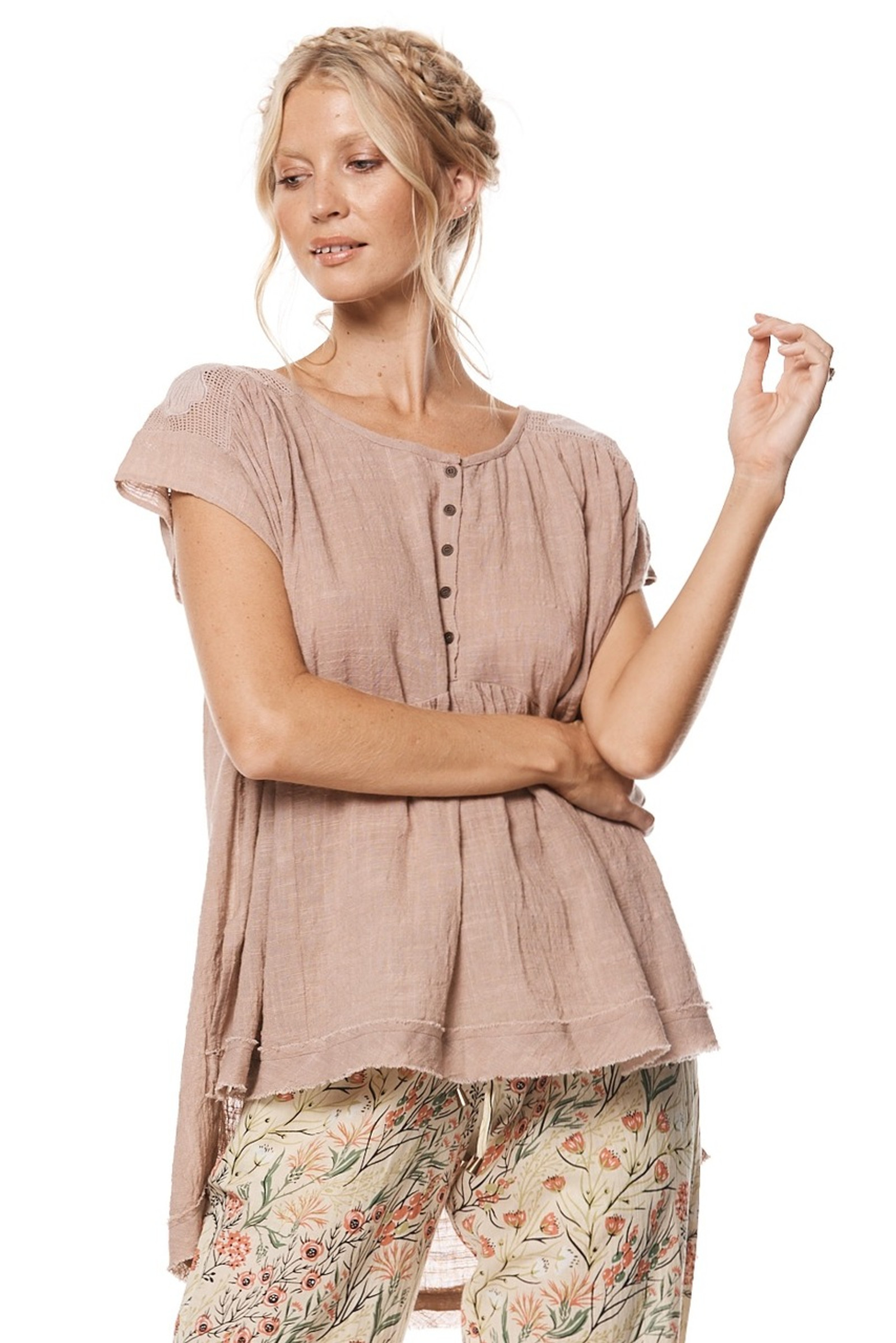 Kiara Top - Dusty Pink