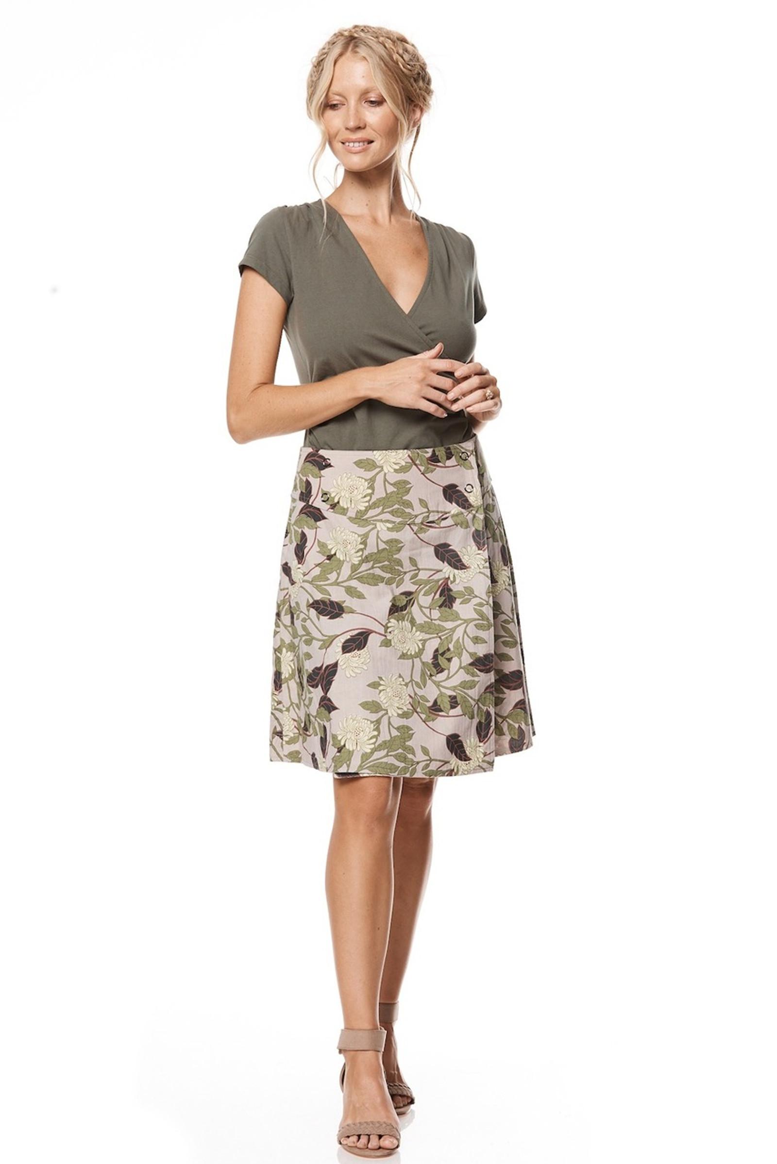 Reversible Skirt - Magnolia & Freesia