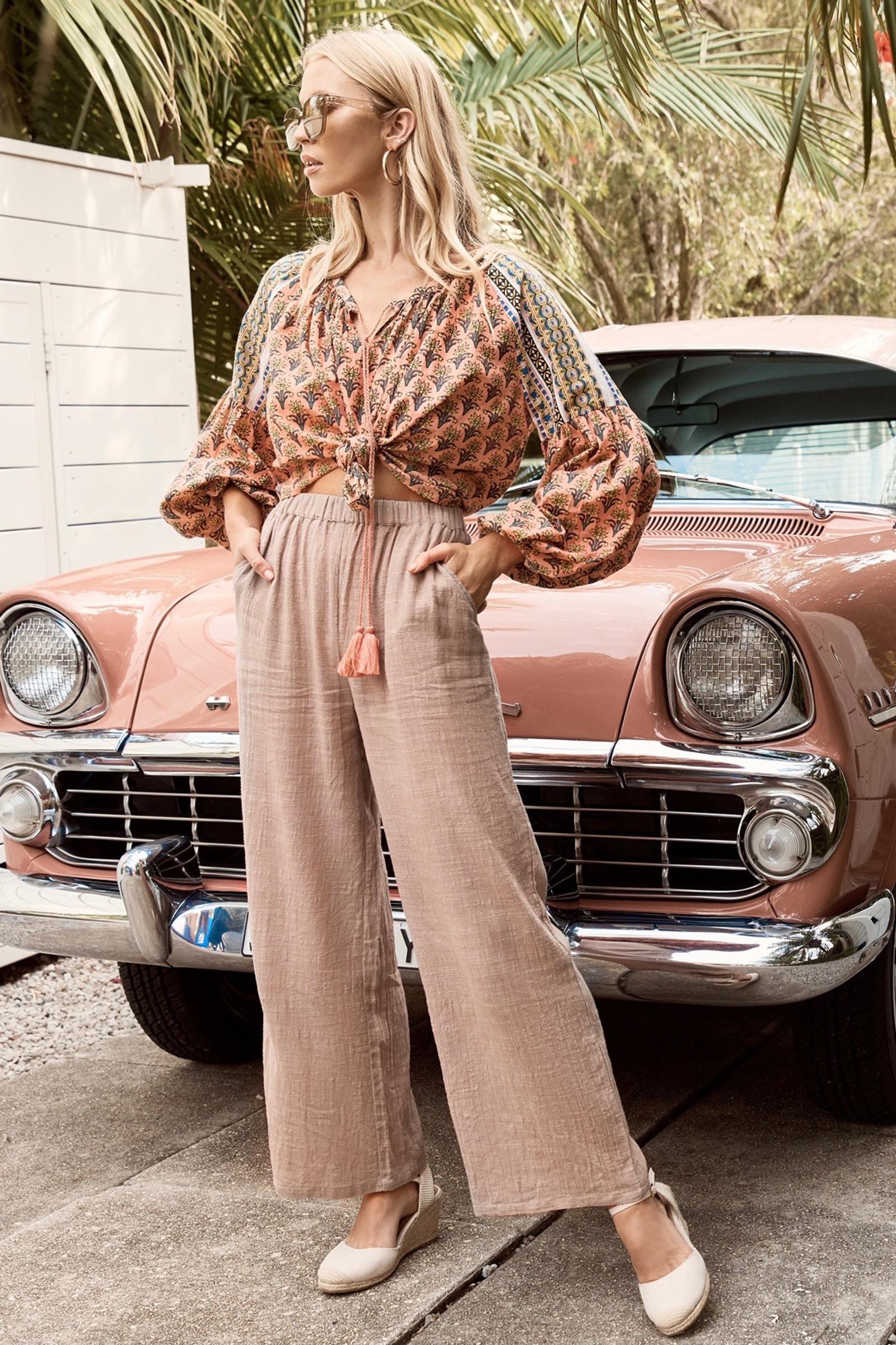 Anika Trouser - Dusty Pink