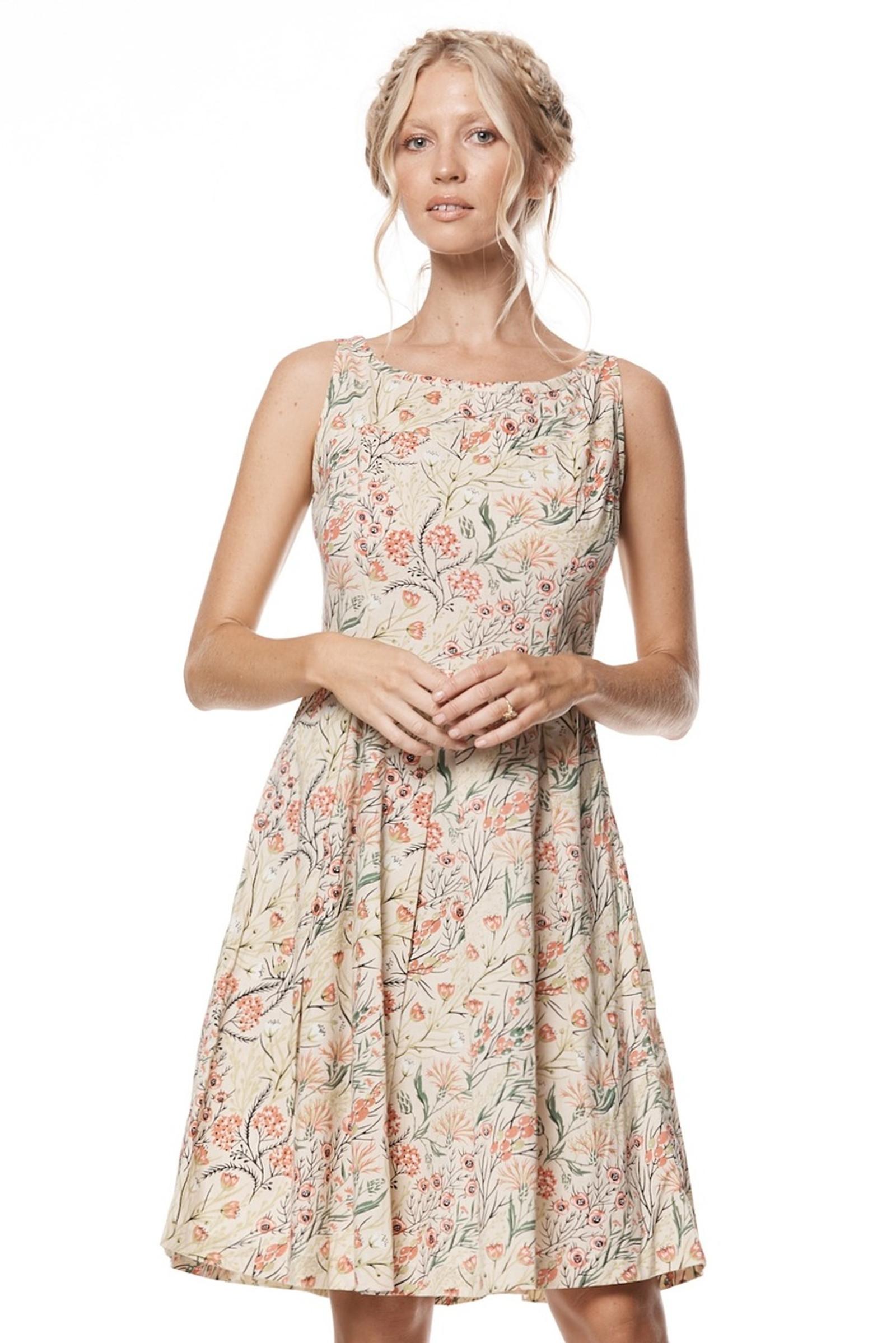 April Dress - Coral