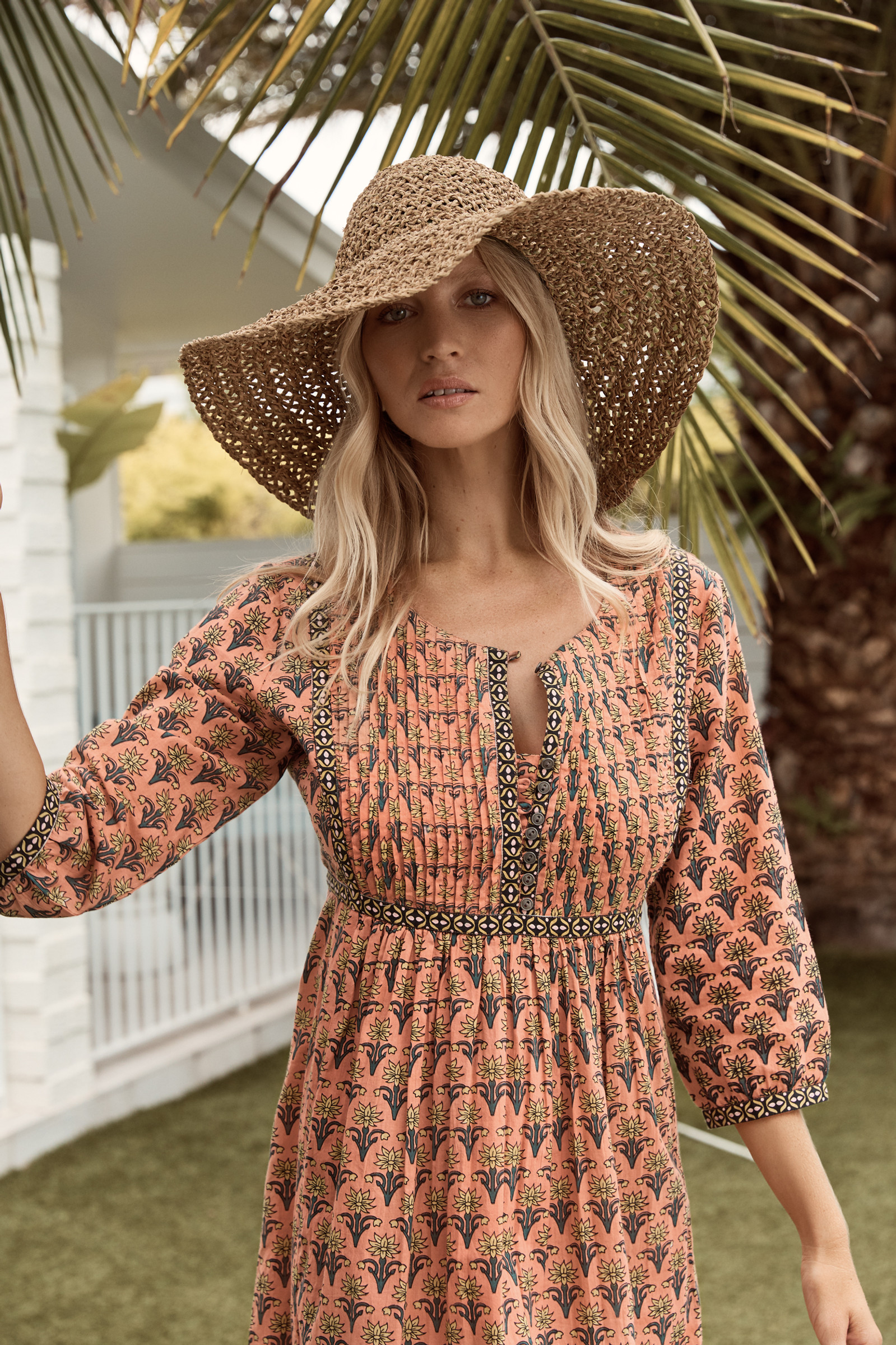 Mahi Dress - Peach