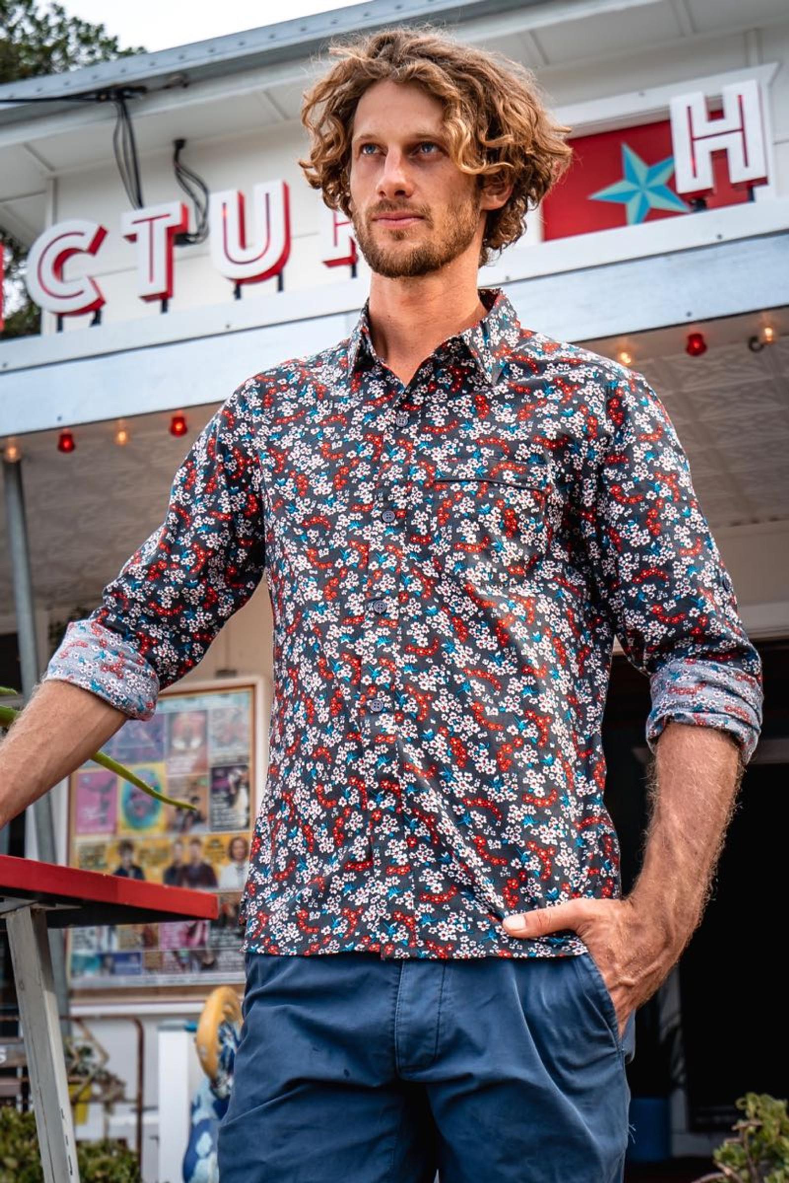 Men's Shirt Long Sleeve - Field