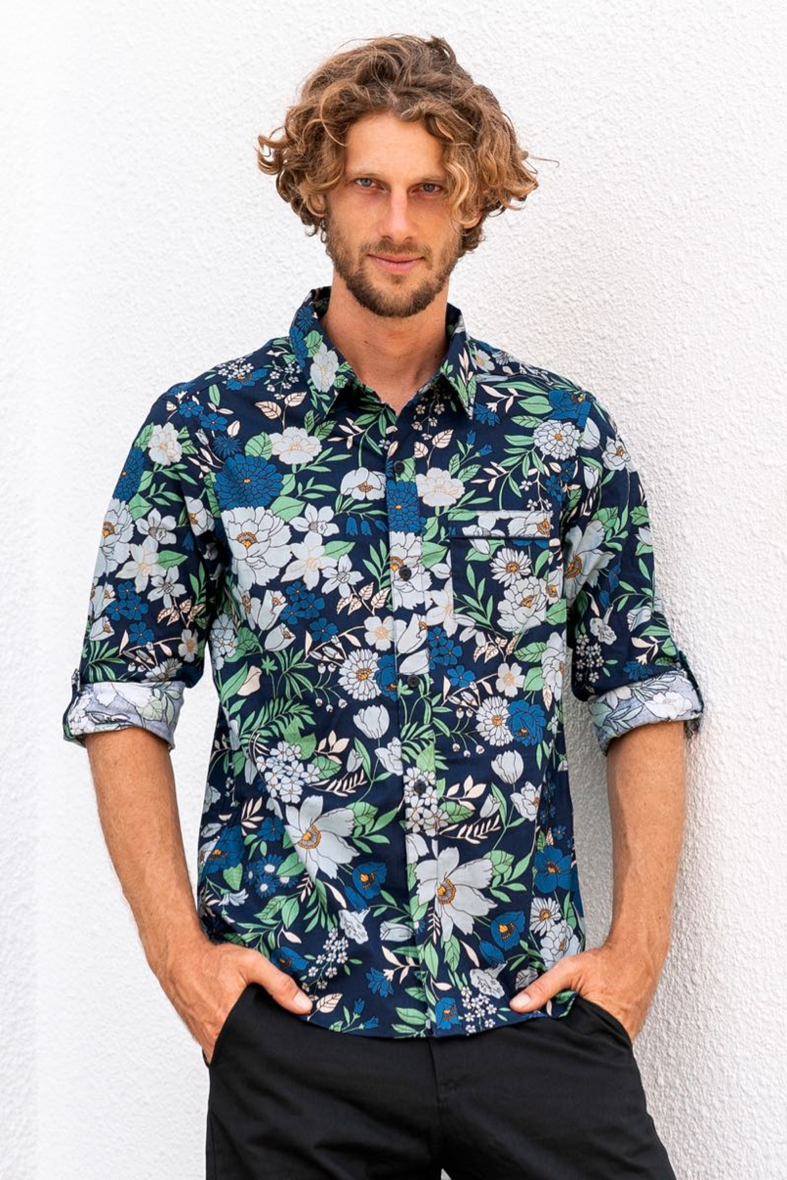 Men's Shirt Long Sleeve - Poppy