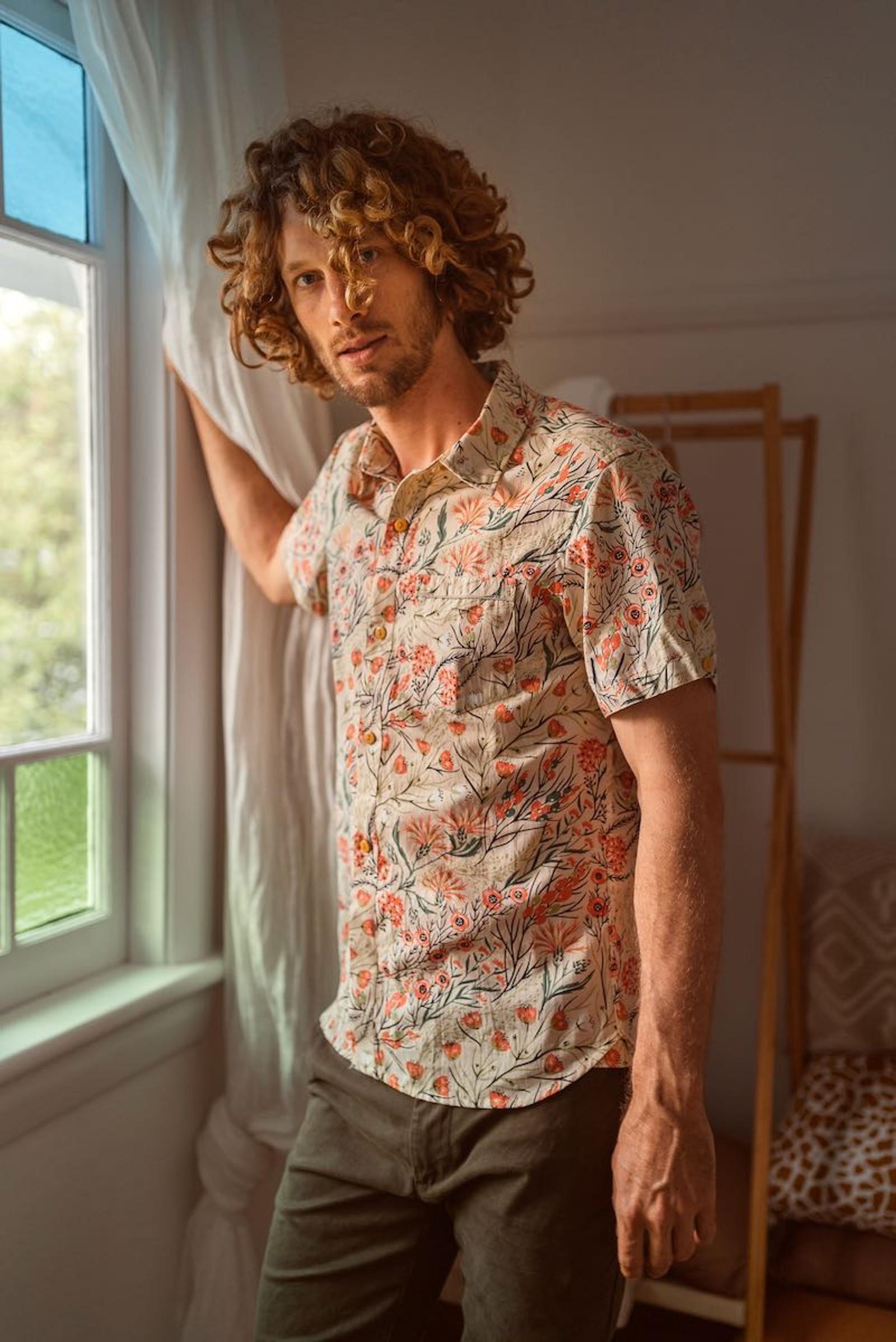 Men's Shirt - Coral