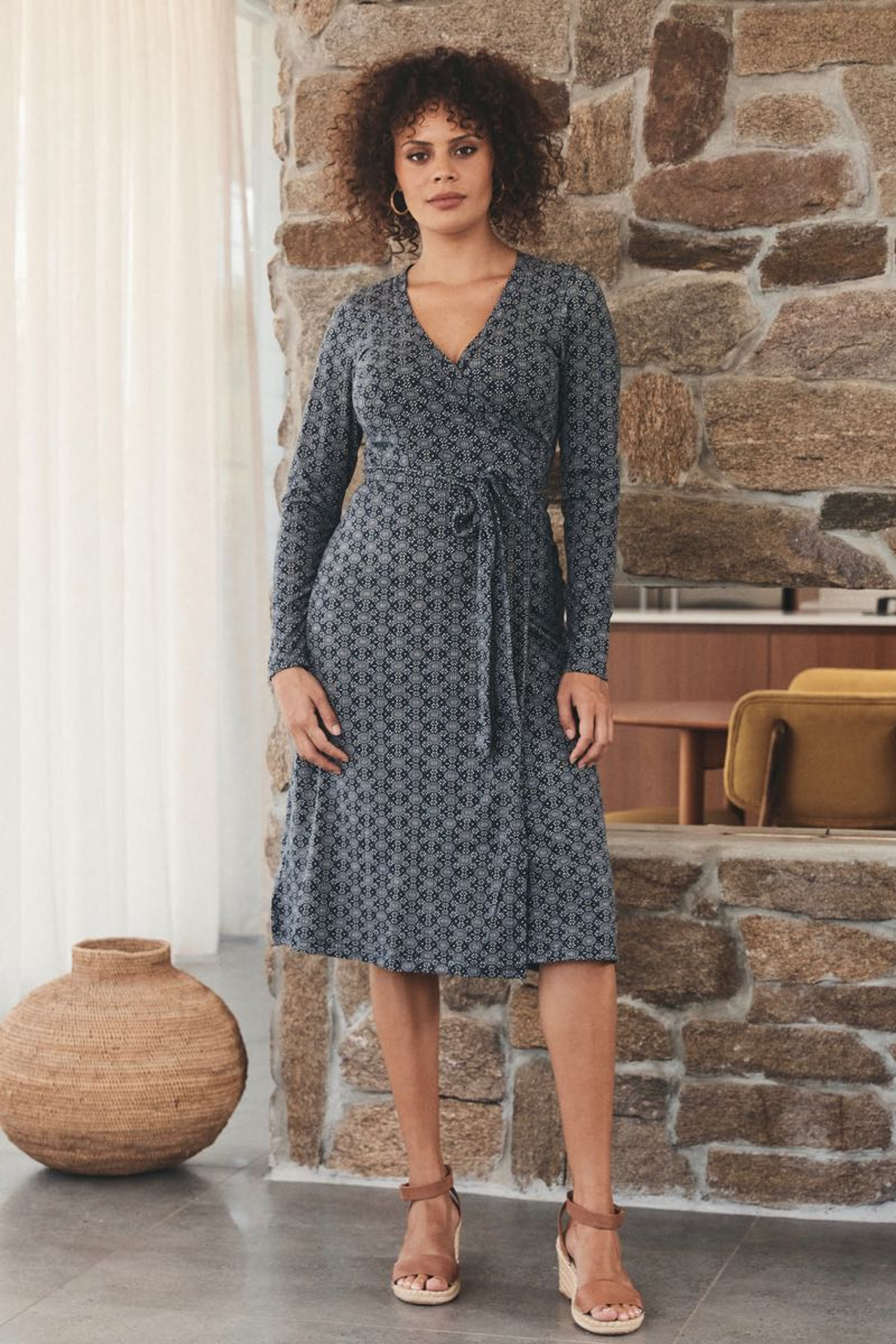 Audrey Wrap Dress - Nova