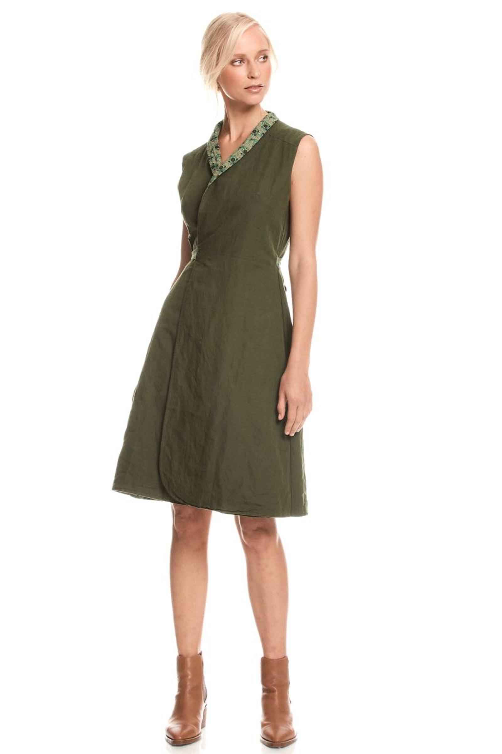 Rhianna Reversible Dress - Clover Jade & Moss
