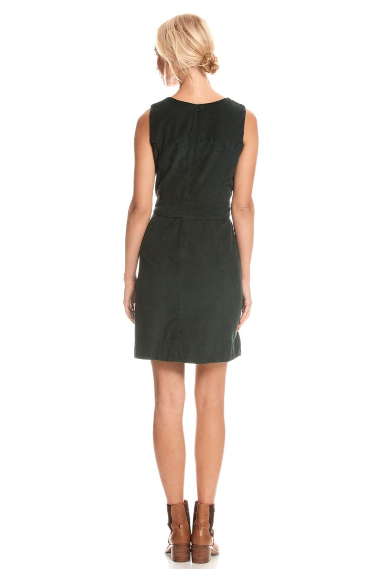 Abby Dress Corduroy - Emerald