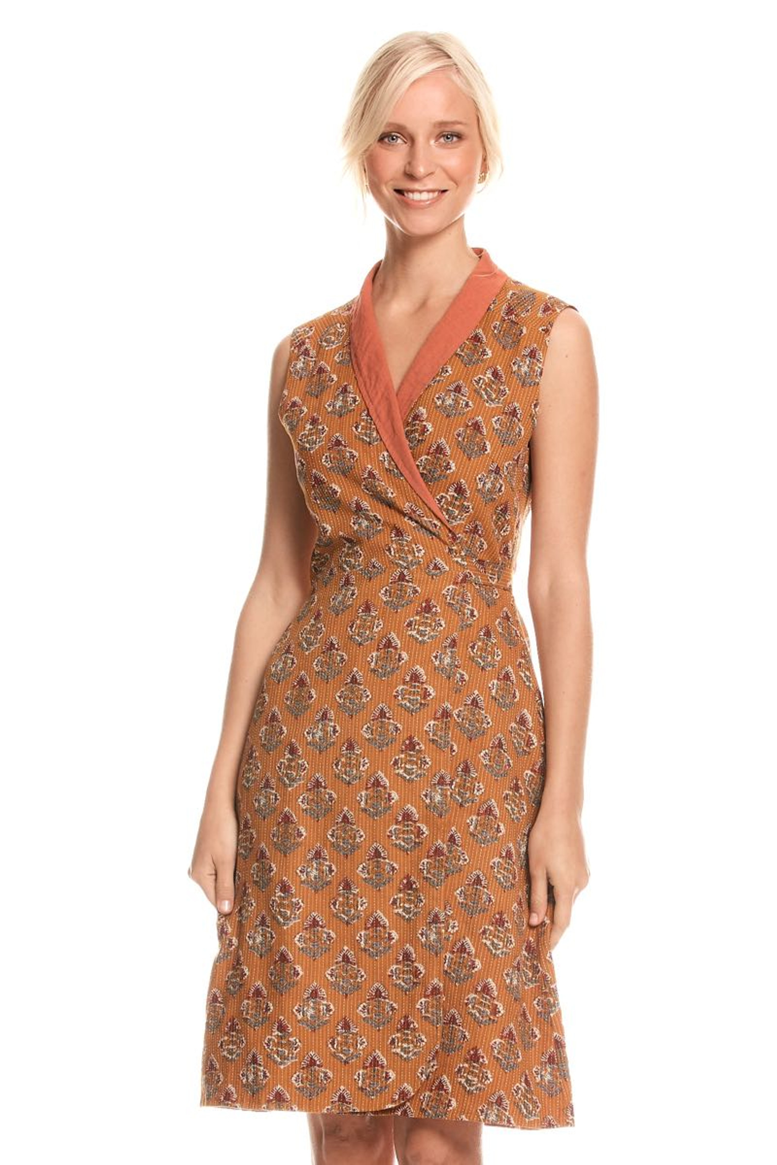 Rhianna Reversible Dress - Neem & Clay