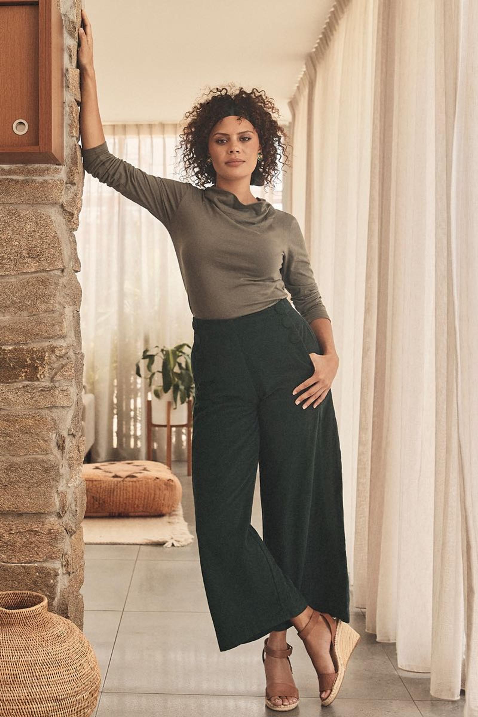 Talia Trouser Corduroy - Emerald
