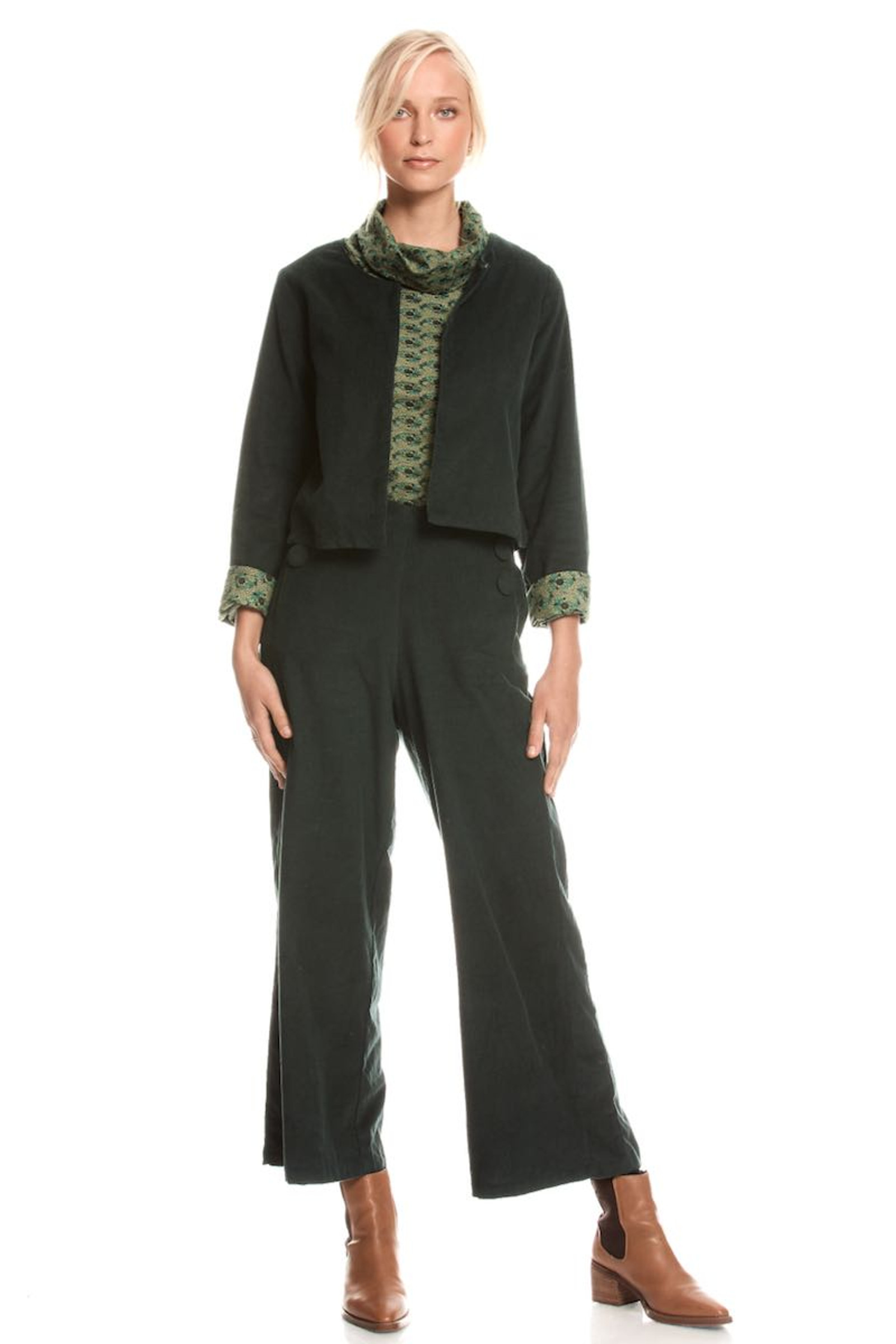 Priya Jacket Corduroy - Emerald