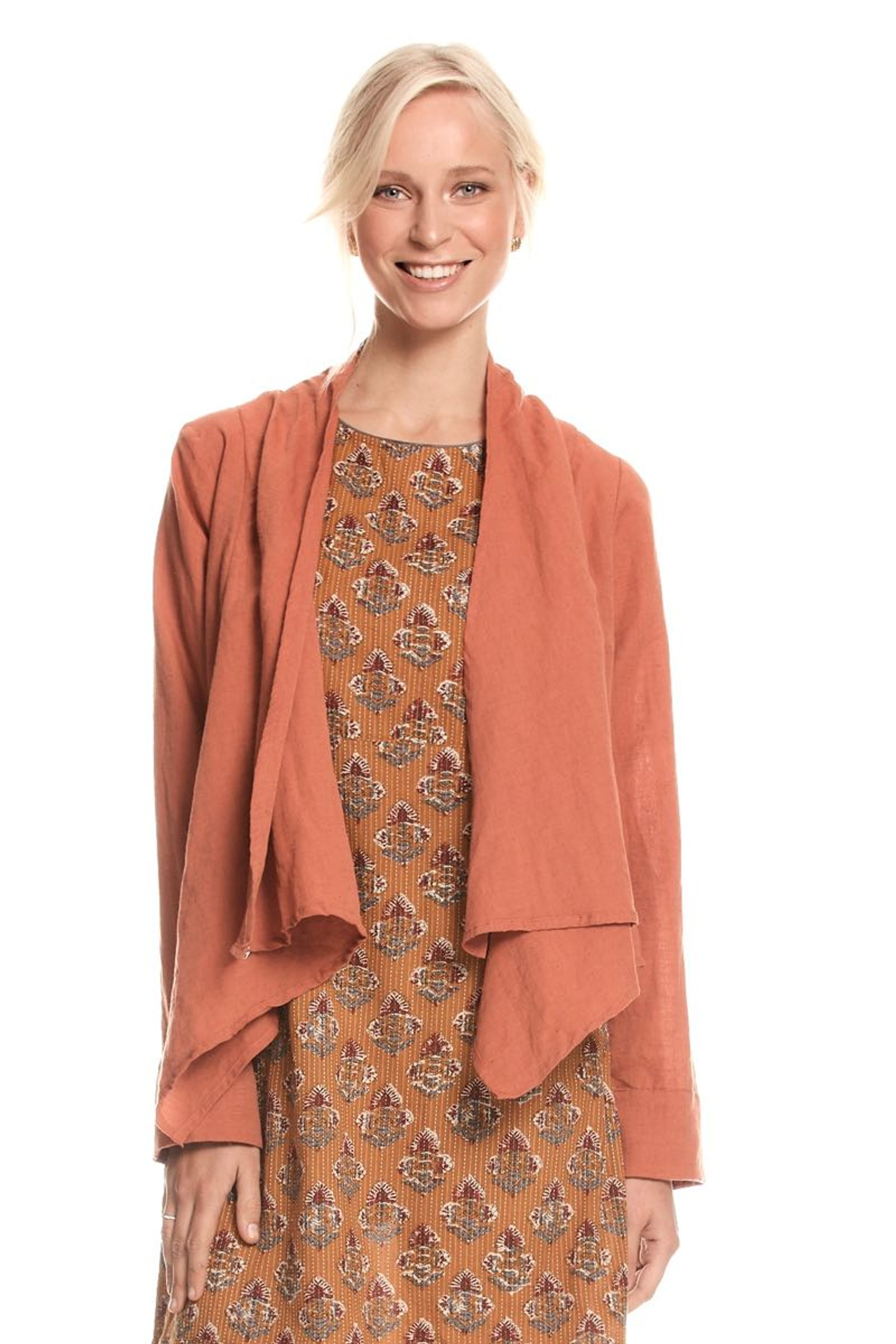 Lucy Jacket Linen - Clay