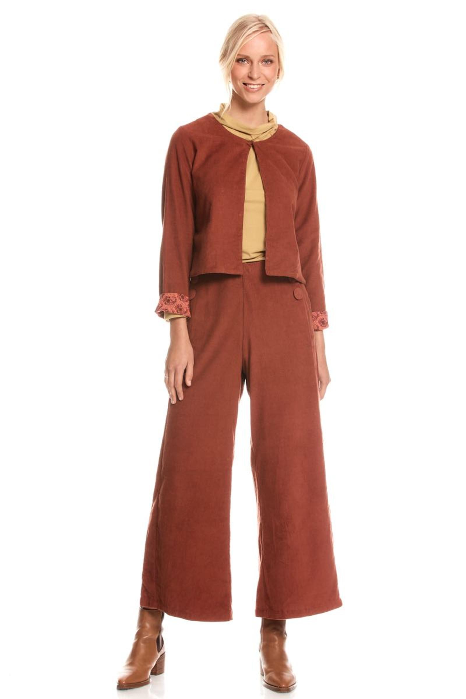 Priya Jacket Corduroy - Rust