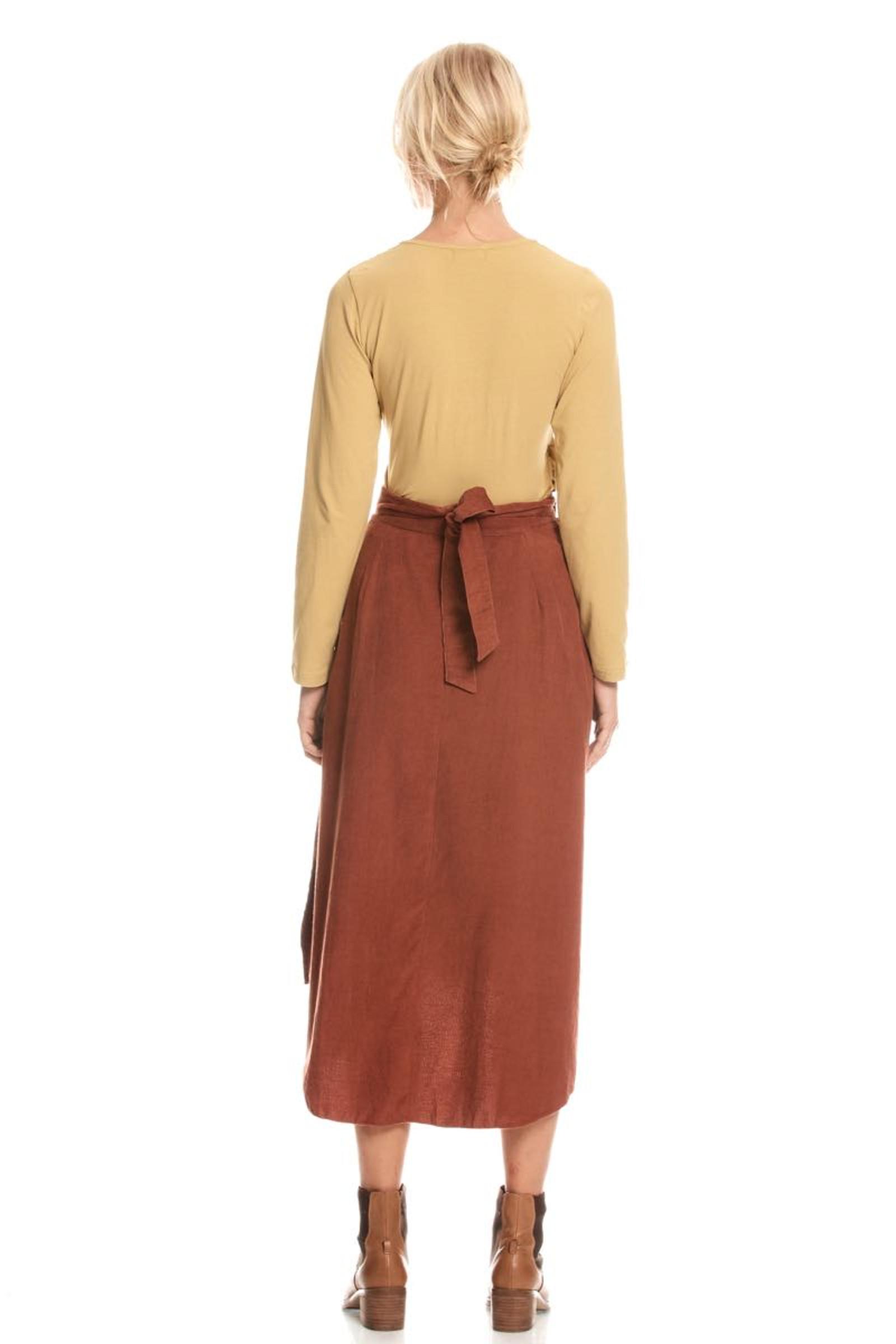 Heidi Wrap Skirt - Rust