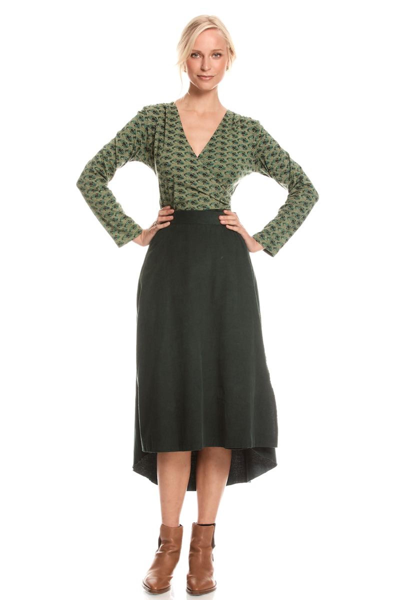 Heidi Wrap Skirt - Emerald