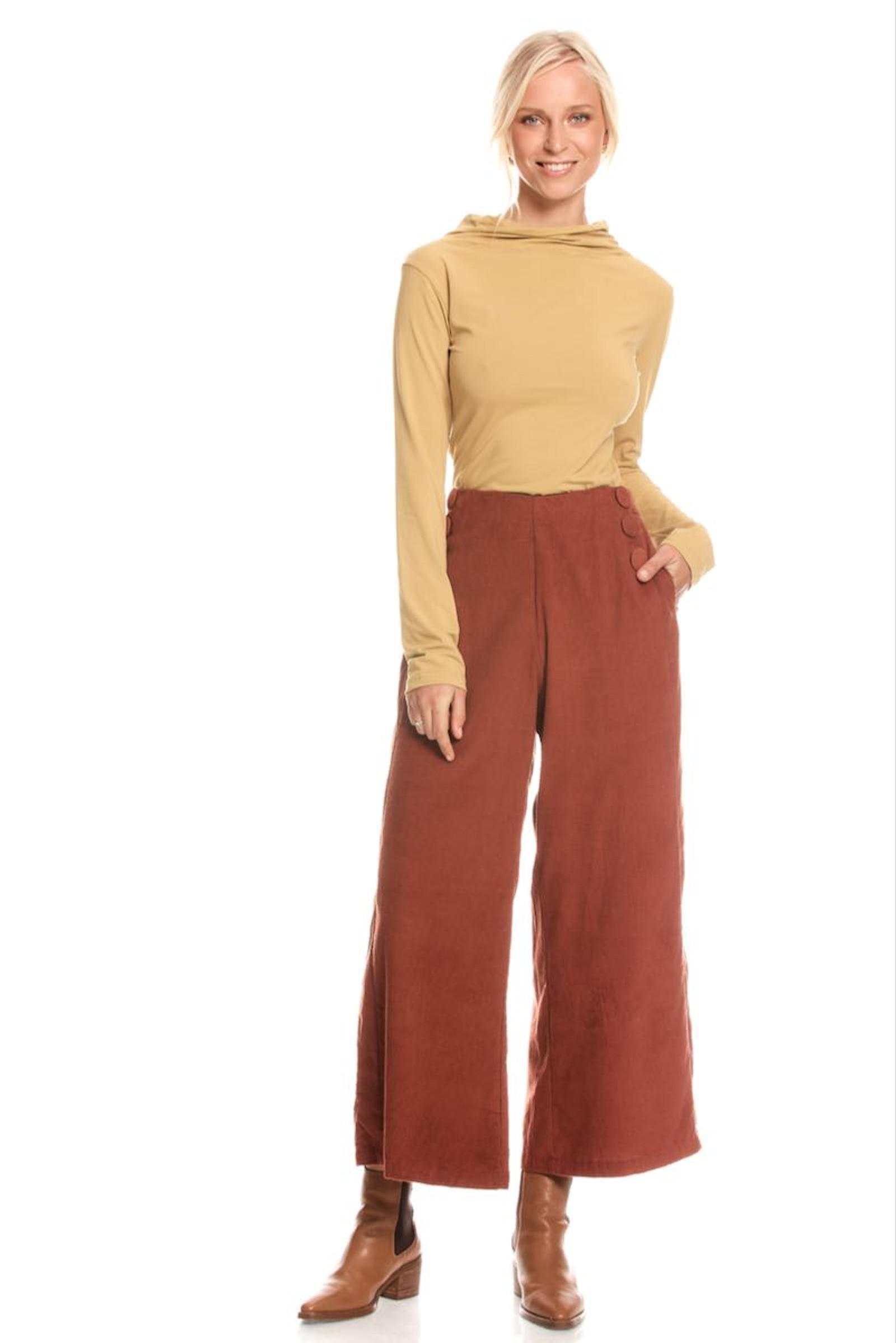 Talia Trouser Corduroy - Rust