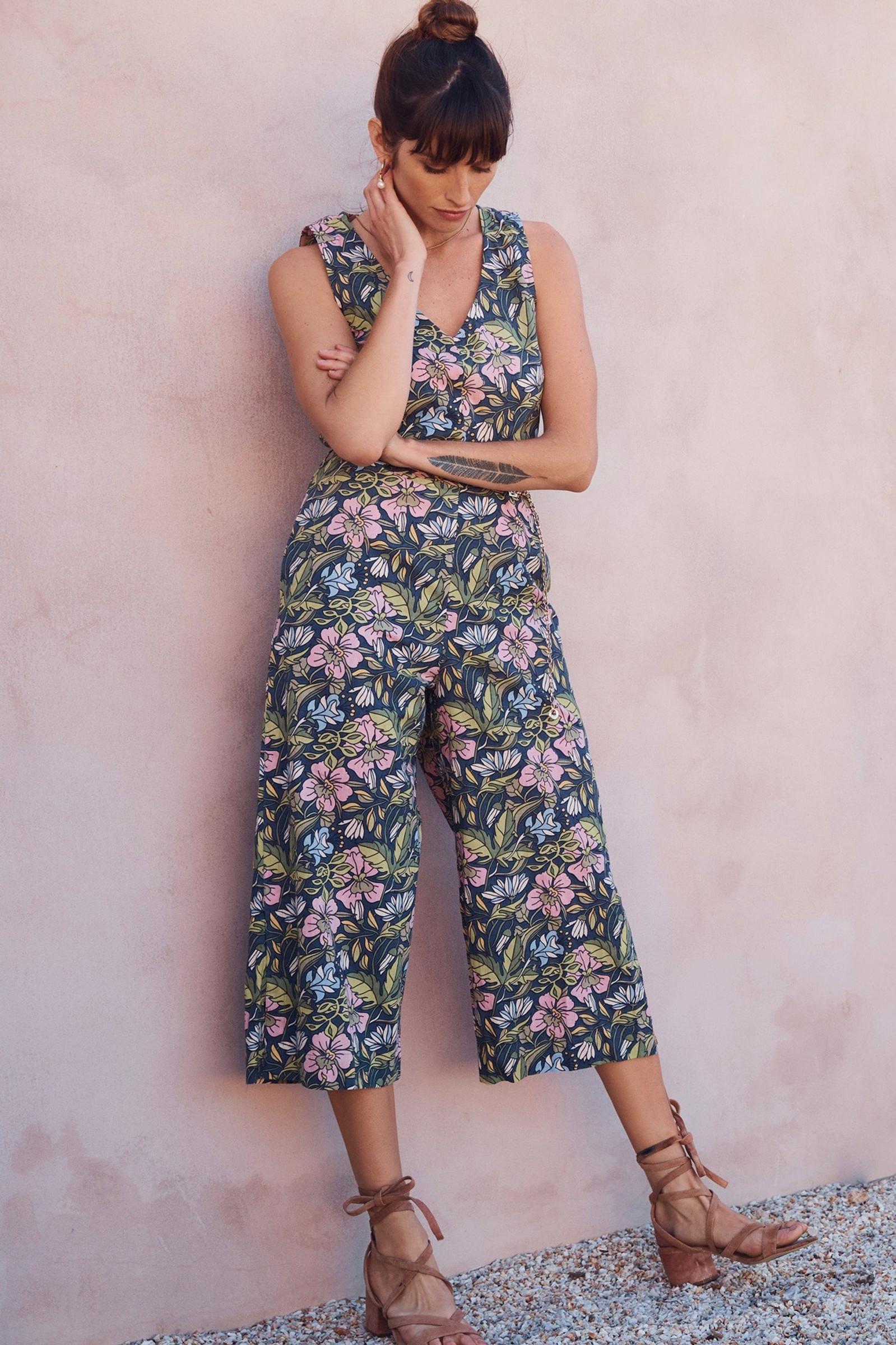 Ava Jumpsuit - Hibiscus