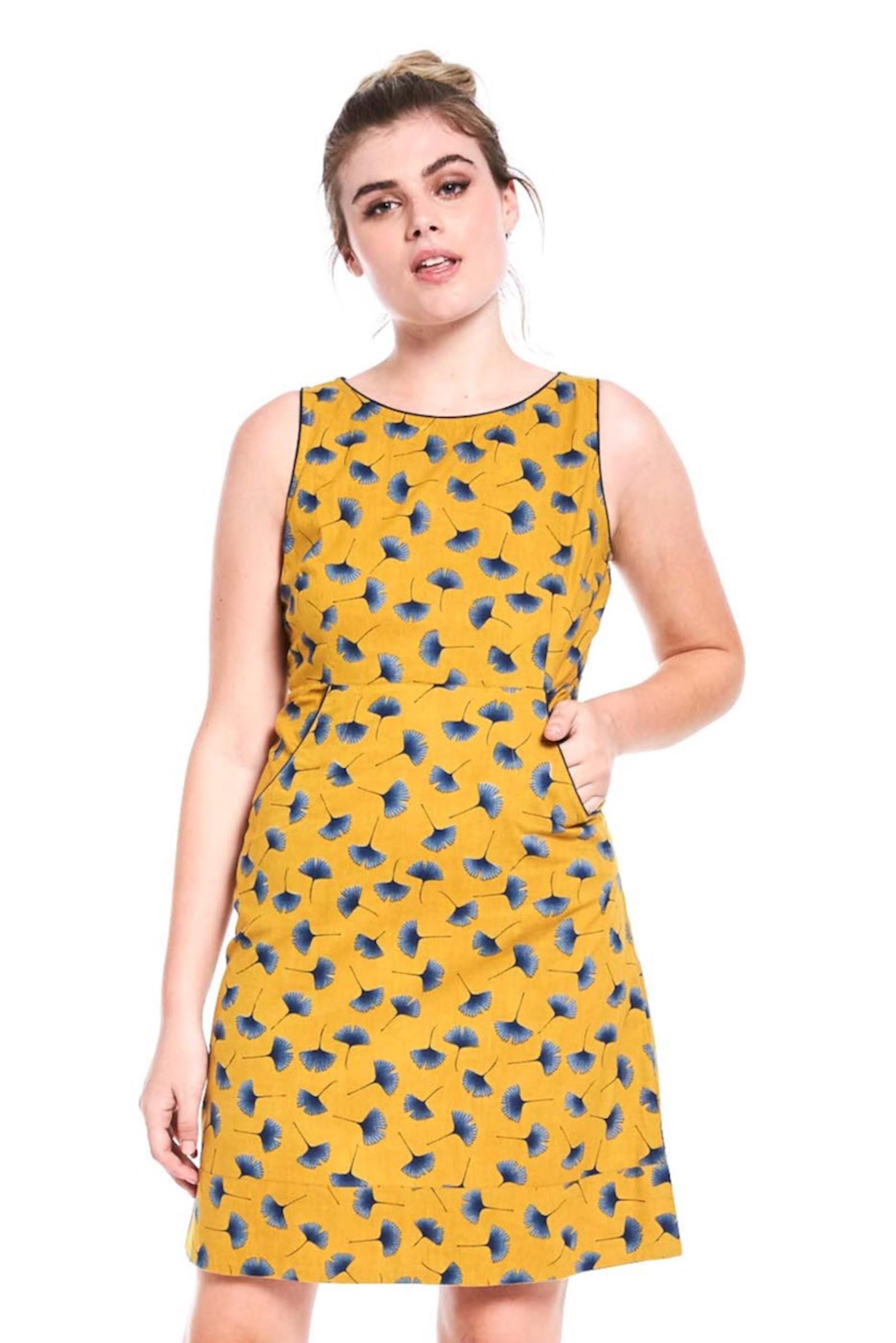 Alana Dress - Ginkgo Mustard