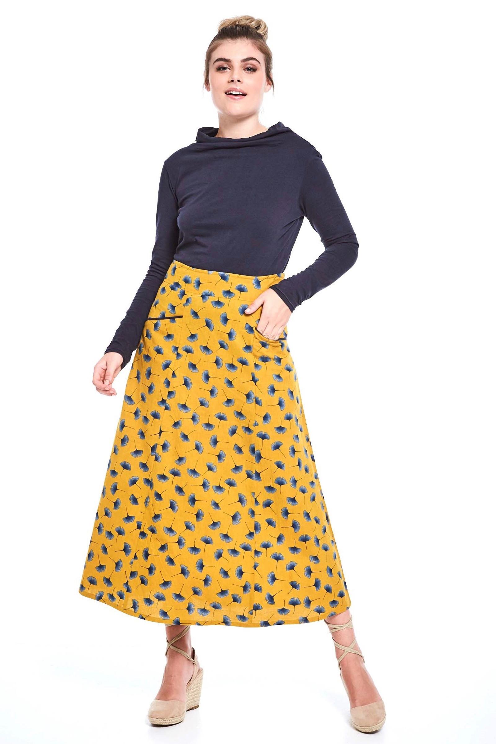 Susanna Skirt - Ginkgo Mustard