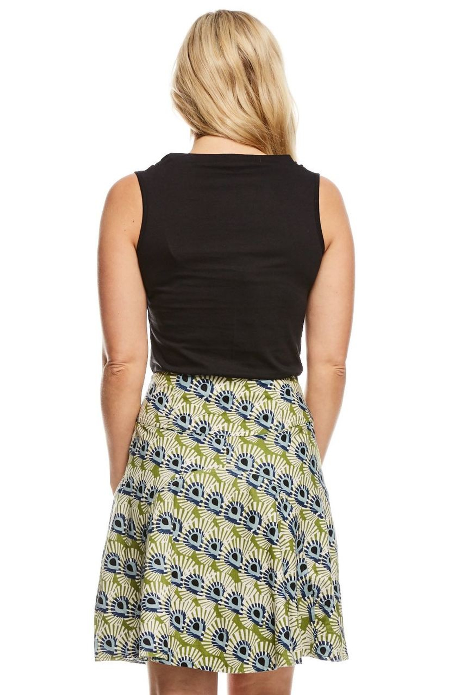 Reversible Skirt - Mystic & Tic Tac Blue