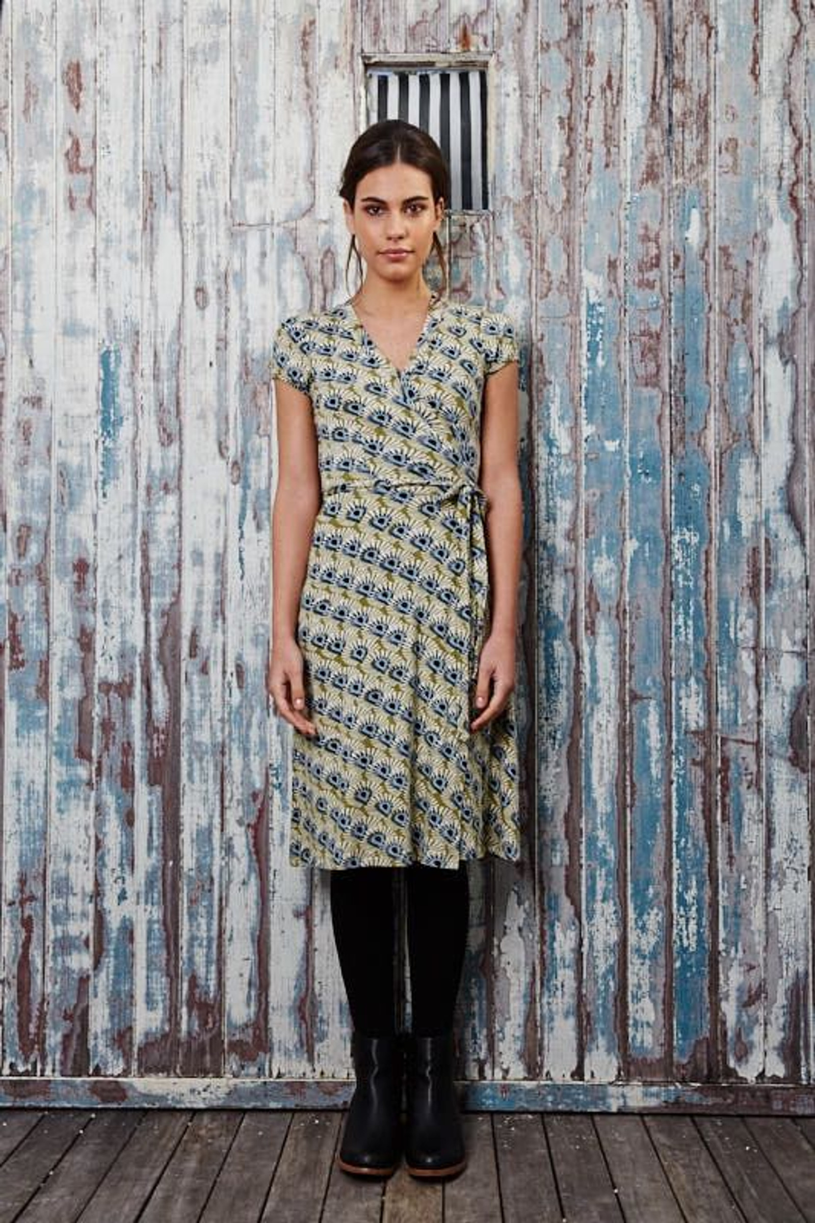 Amelia Wrap Dress - Mystic