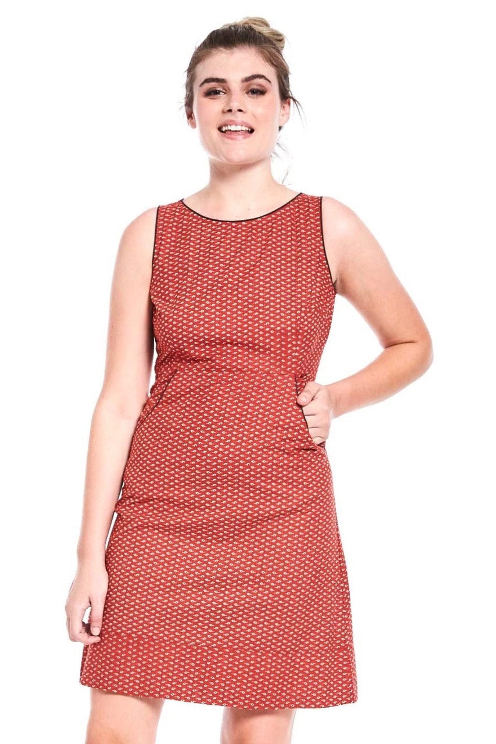 Alana Dress - Seed Red
