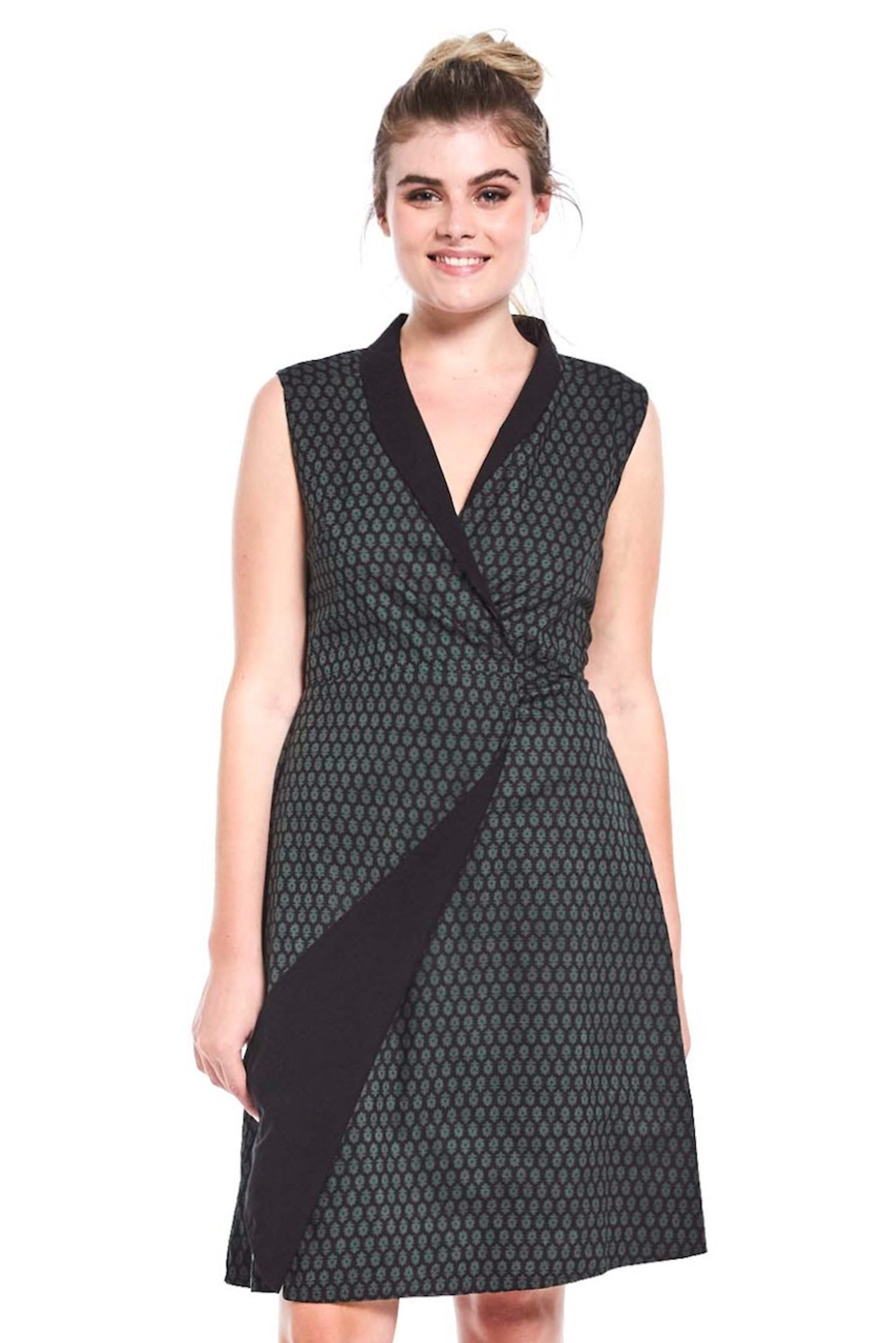Reversible Rhianna Wrap Dress - Tulsi & Black