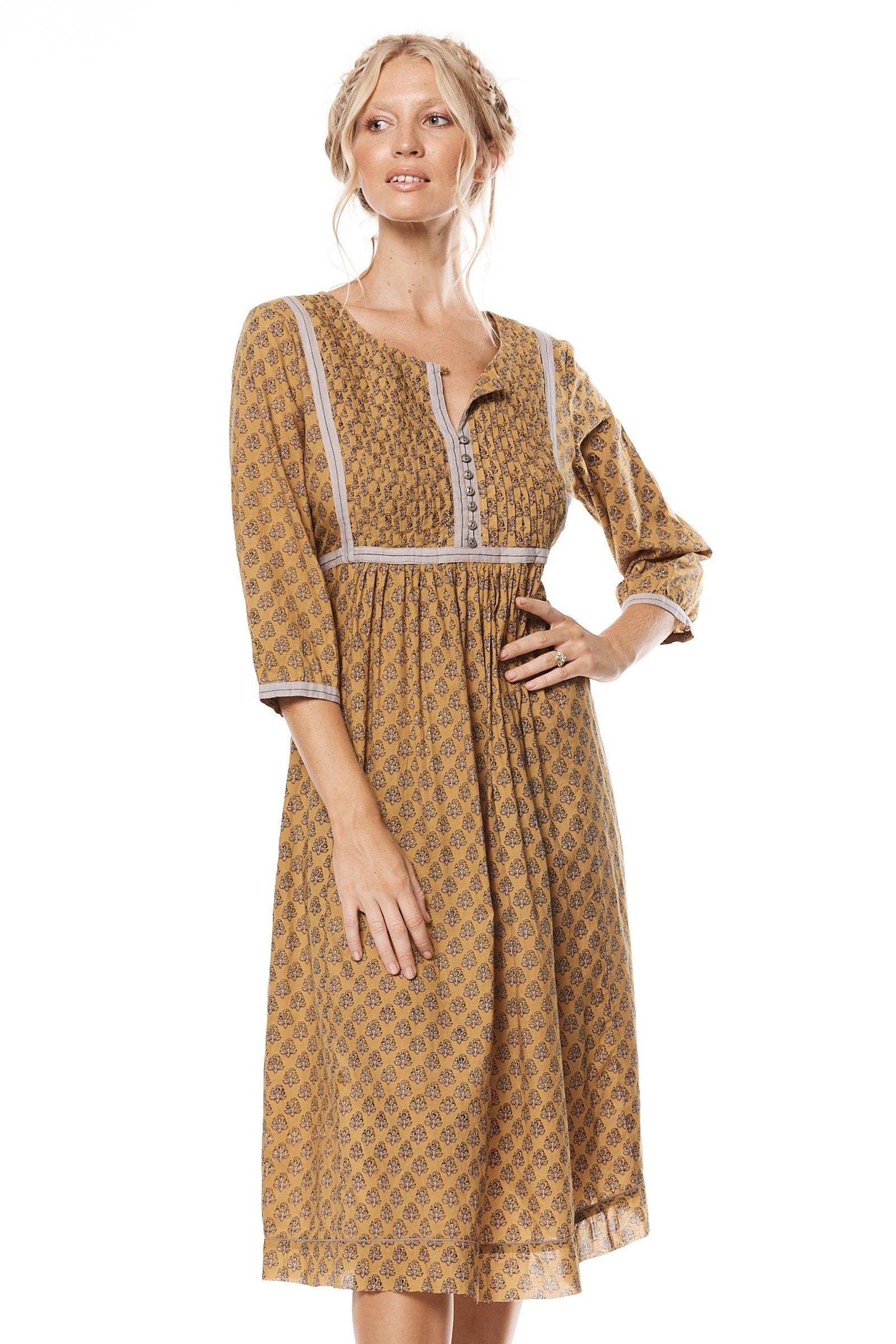Mahi Dress - Turmeric