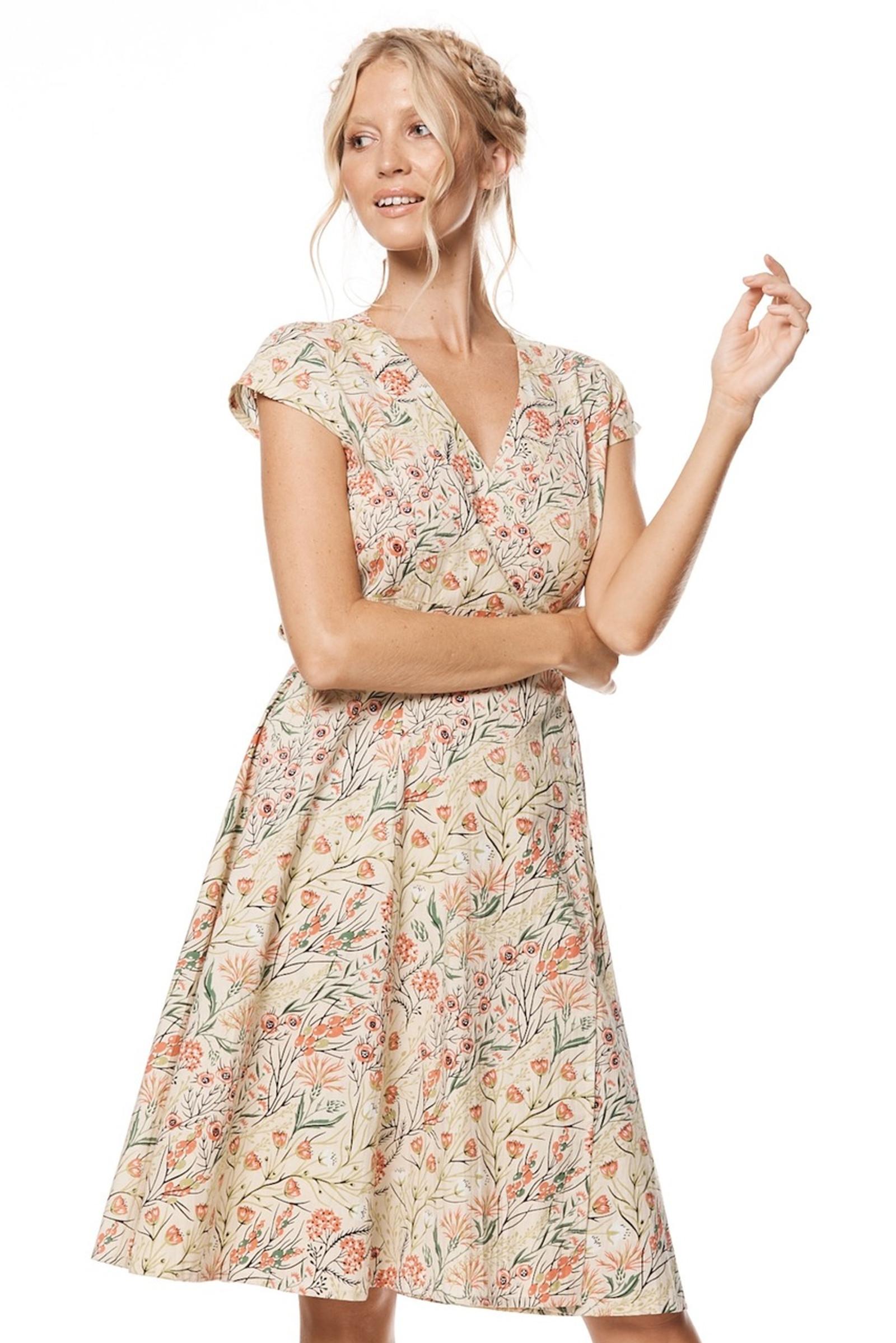 Wrap Dress - Coral